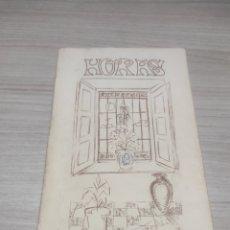 Libros de segunda mano: HORAS. DE FRANCISCA RISTORI PECCI. CON DEDICATORIA DE LA AUTORA. ALMERÍA 1985. Lote 276546218