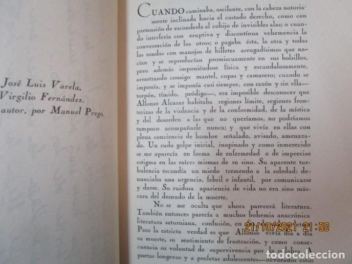 Libros de segunda mano: GALICIA POESIA - MI VIDA ESTÁ CALLADA POEMAS - ALFONSO ALCARAZ - ORENSE 1962 IMP HODIRE +INFO - Foto 6 - 276734373