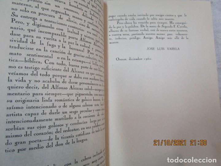 Libros de segunda mano: GALICIA POESIA - MI VIDA ESTÁ CALLADA POEMAS - ALFONSO ALCARAZ - ORENSE 1962 IMP HODIRE +INFO - Foto 9 - 276734373