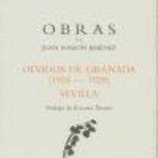 Libros de segunda mano: OLVIDOS DE GRANADA OBRAS J,R,JIMENEZ 34. - JIMÉNEZ, JUAN RAMÓN.. Lote 276986558