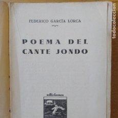 Libros de segunda mano: LORCA, FEDERICO GARCÍA. POEMA DEL CANTE JONDO, PRIMERA EDICIÓN, ULISES, 1931. UNA JOYA. Lote 277059348