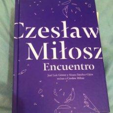 Libros de segunda mano: LIBRO 2 CD AITANA SANCHEZ GIJON Y JOSE LUIS GOMEZ CZESLAW MILOSZ AUDIOLIBRO ENCUENTRO POETICO 2012. Lote 277145658