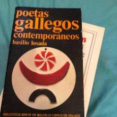 Libros de segunda mano: LIBRO POETAS GALLEGOS CONTEMPORANEOS BASILIO LOSADA ANTOLOGIA POETICA GALLEGA GALICIA POEMAS CD DVD. Lote 277147148