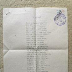 Libros de segunda mano: ANTIGUO POEMA MARINERO DE CÁDIZ - FALANGE ESPAÑOLA DE LAS JONS DELEGACIÓN PROVINCIA CÁDIZ - BARCOS. Lote 277221623