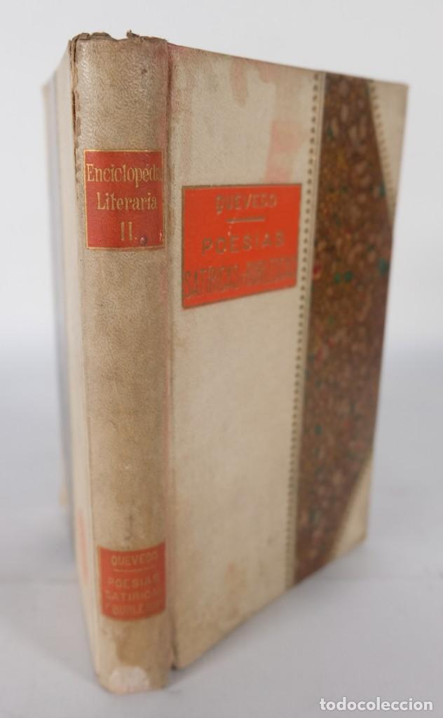 Libros de segunda mano: Poesías satíricas y burlescas - Francisco de Quevedo - Toledano López & Cia - Foto 3 - 277285838