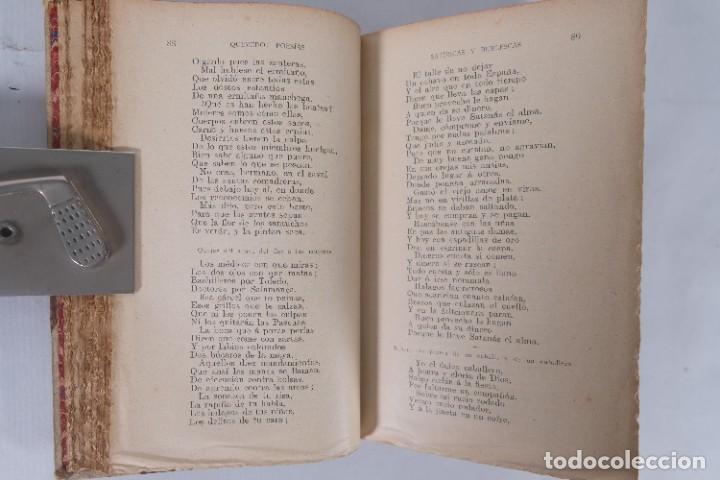 Libros de segunda mano: Poesías satíricas y burlescas - Francisco de Quevedo - Toledano López & Cia - Foto 7 - 277285838