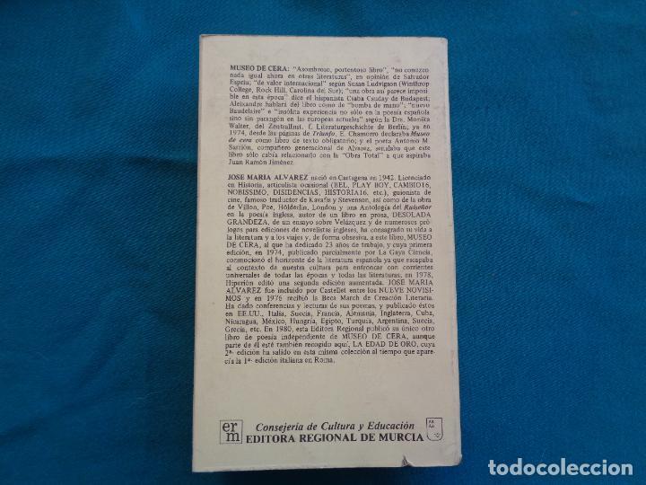 Libros de segunda mano: MUSEO DE CERA, JOSÉ MARÍA ALVAREZ. POESIA. 1984 - Foto 4 - 278621183