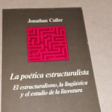 Libros de segunda mano: JONATHAN CULLER POETICA ESTRUCTURALISTA ANAGRAMA 1978 379PP. Lote 278676763