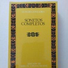 Libros de segunda mano: SONETOS COMPLETOS - LUIS DE GÓNGORA - CLÁSICOS CASTALIA. Lote 278949603