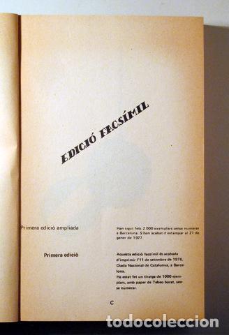 Libros de segunda mano: SALVAT PAPASSEIT, Joan - POESIA COMPLETA. Edició facsímil - Barcelona. 1975 - 1ª edició - Foto 2 - 282876828