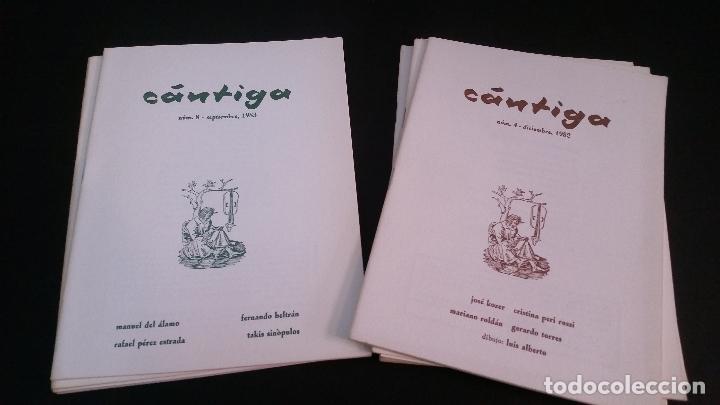 Libros de segunda mano: 1982 - Cántiga. Números 4 a 11 - REVISTA DE POESÍA - Foto 2 - 286842313
