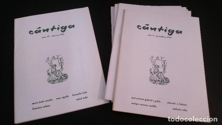 Libros de segunda mano: 1982 - Cántiga. Números 4 a 11 - REVISTA DE POESÍA - Foto 3 - 286842313