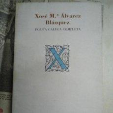Libros de segunda mano: XOSÉ Mª ÁLVAREZ BLÁZQUEZ 1987 POESÍA GALEGA COMPLETA CON 188 PÁGINAS ILUSTRADO EDITA XERAIS DE GALIC. Lote 287001208