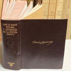Libros de segunda mano: AÑO 1964 - HISTORIA Y ANTOLOGÍA DE LA POESÍA ESPAÑOLA SIGLOS XII AL XX - AGUILAR OBRAS ETERNAS. Lote 287904788