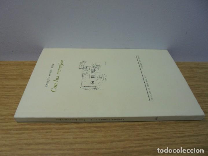 Libros de segunda mano: ENRIQUE ANDRES RUIZ. CON LOS VENCEJOS. DEDICADO POR AUTOR. EDITORIAL PRE-TEXTOS. 2004 - Foto 2 - 288065383