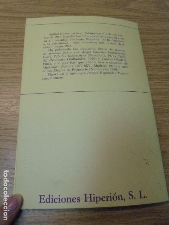 Libros de segunda mano: ALZADO DE LA RUINA. ANIBAL NUÑEZ. EDITORIAL HIPERION. 1983. 1º EDICION. - Foto 11 - 288066623