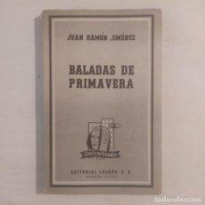 Libros de segunda mano: BALADAS DE PRIMAVERA (1907). JIMÉNEZ, JUAN RAMÓN. Lote 288136658