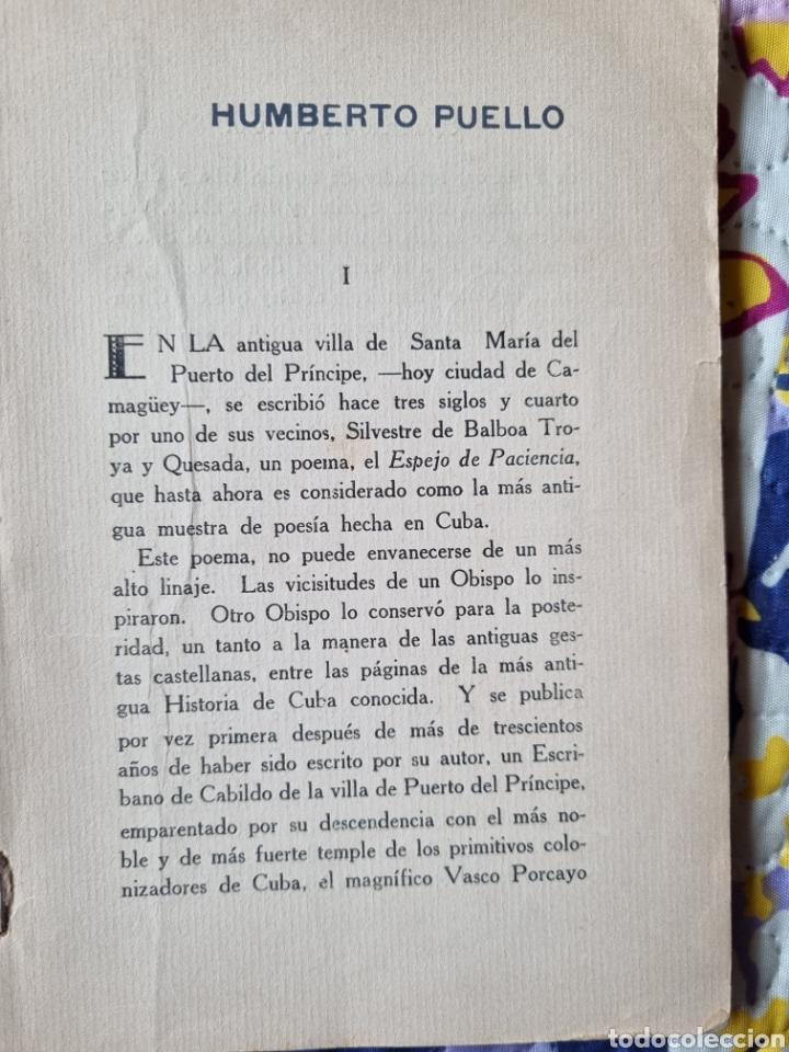 Libros de segunda mano: Espejo de Paciencia. Cuba 1942. - Foto 2 - 288149893