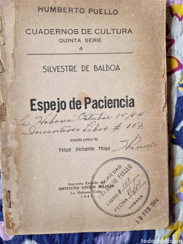ESPEJO DE PACIENCIA. CUBA 1942. (Libros de Segunda Mano (posteriores a 1936) - Literatura - Poesía)