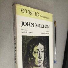 Libros de segunda mano: SONETOS - SANSÓN AGONISTA / JOHN MILTON / ERASMO TEXTOS BILINGÜES - BOSCH 1977. Lote 289252783