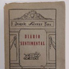 Libros de segunda mano: DIARIO SENTIMENTAL. JOAQUÍN SÁNCHEZ FABA. FIRMADO DEDICADO POR AUTOR. MADRID. Lote 289254973