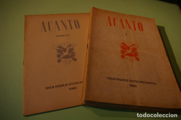 ACANTO MADRID 1947 REVISTA LITERARIA COLECCION COMPLETA 16 NUMEROS + INDICES DIR. JOSE GARCIA NIETO (Libros de Segunda Mano (posteriores a 1936) - Literatura - Poesía)