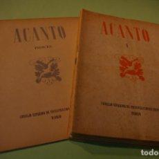 Libros de segunda mano: ACANTO MADRID 1947 REVISTA LITERARIA COLECCION COMPLETA 16 NUMEROS + INDICES DIR. JOSE GARCIA NIETO. Lote 289595983