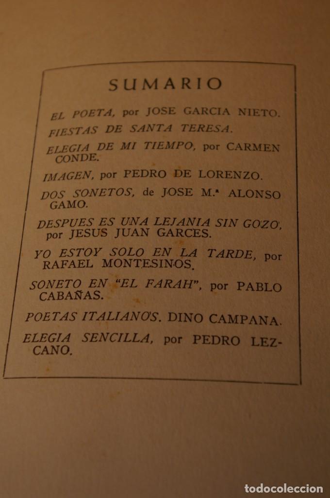 Libros de segunda mano: ACANTO MADRID 1947 REVISTA LITERARIA COLECCION COMPLETA 16 NUMEROS + INDICES DIR. JOSE GARCIA NIETO - Foto 4 - 289595983