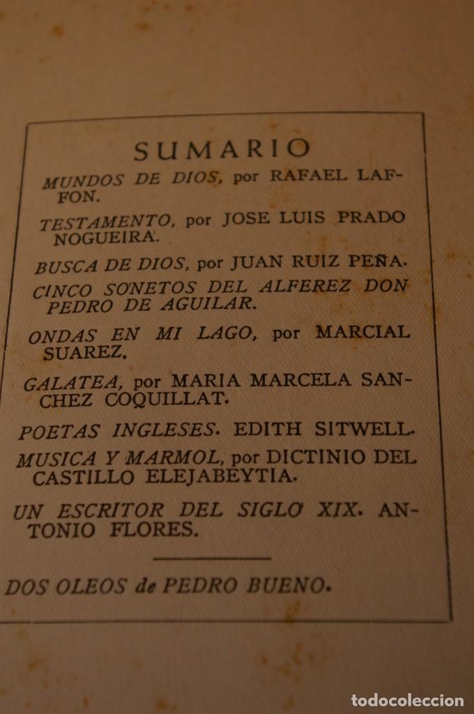 Libros de segunda mano: ACANTO MADRID 1947 REVISTA LITERARIA COLECCION COMPLETA 16 NUMEROS + INDICES DIR. JOSE GARCIA NIETO - Foto 6 - 289595983