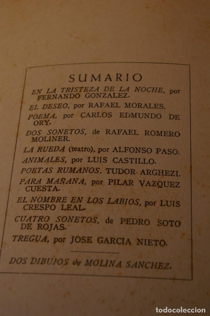 Libros de segunda mano: ACANTO MADRID 1947 REVISTA LITERARIA COLECCION COMPLETA 16 NUMEROS + INDICES DIR. JOSE GARCIA NIETO - Foto 7 - 289595983