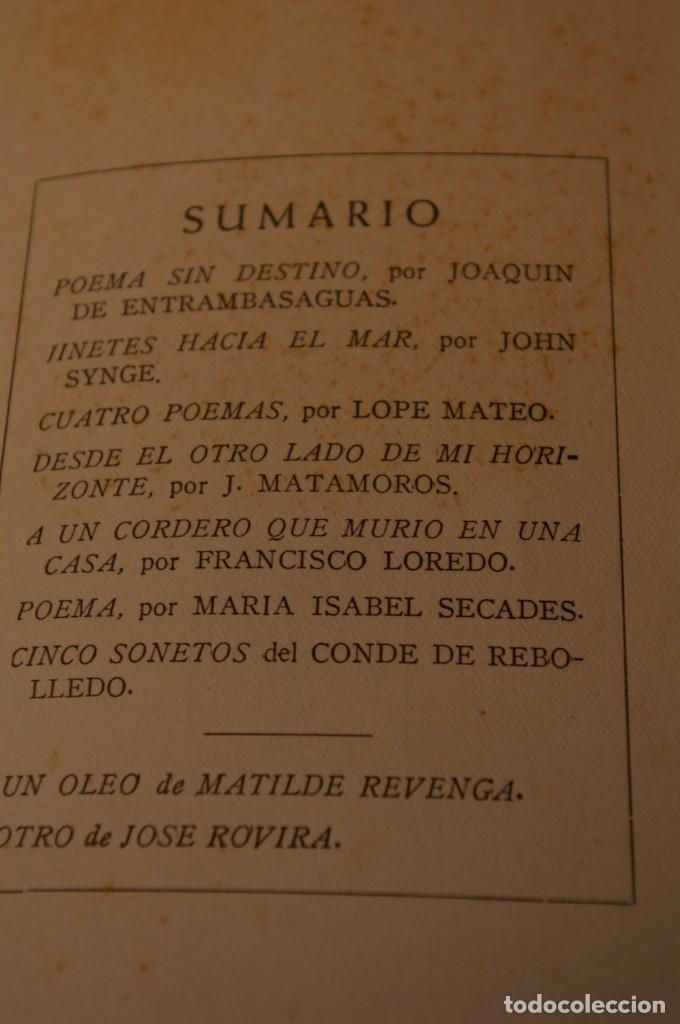 Libros de segunda mano: ACANTO MADRID 1947 REVISTA LITERARIA COLECCION COMPLETA 16 NUMEROS + INDICES DIR. JOSE GARCIA NIETO - Foto 8 - 289595983