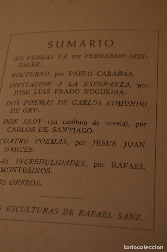 Libros de segunda mano: ACANTO MADRID 1947 REVISTA LITERARIA COLECCION COMPLETA 16 NUMEROS + INDICES DIR. JOSE GARCIA NIETO - Foto 11 - 289595983