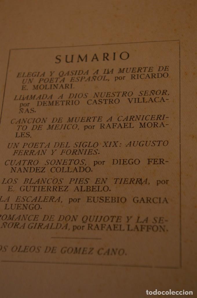 Libros de segunda mano: ACANTO MADRID 1947 REVISTA LITERARIA COLECCION COMPLETA 16 NUMEROS + INDICES DIR. JOSE GARCIA NIETO - Foto 12 - 289595983