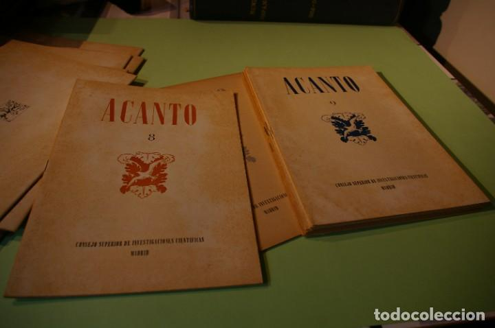 Libros de segunda mano: ACANTO MADRID 1947 REVISTA LITERARIA COLECCION COMPLETA 16 NUMEROS + INDICES DIR. JOSE GARCIA NIETO - Foto 13 - 289595983