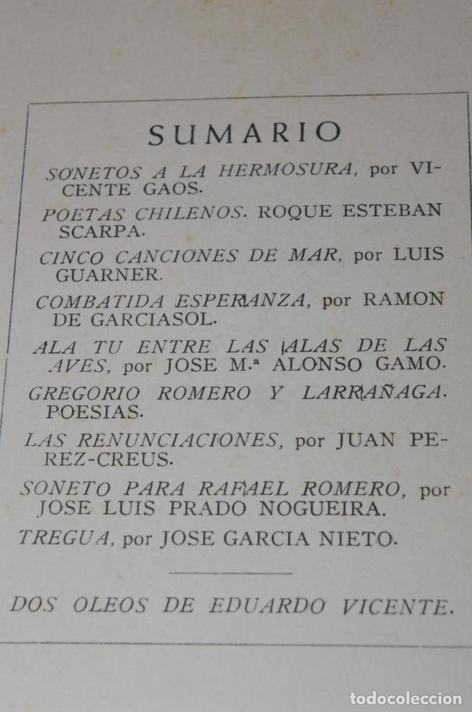 Libros de segunda mano: ACANTO MADRID 1947 REVISTA LITERARIA COLECCION COMPLETA 16 NUMEROS + INDICES DIR. JOSE GARCIA NIETO - Foto 14 - 289595983