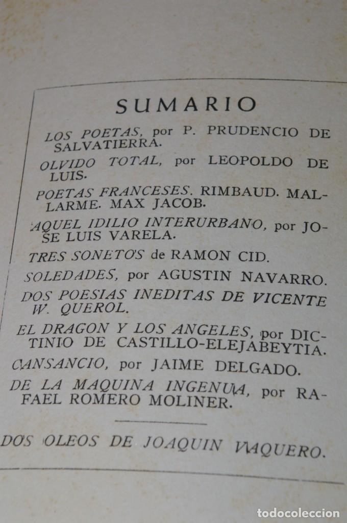 Libros de segunda mano: ACANTO MADRID 1947 REVISTA LITERARIA COLECCION COMPLETA 16 NUMEROS + INDICES DIR. JOSE GARCIA NIETO - Foto 15 - 289595983