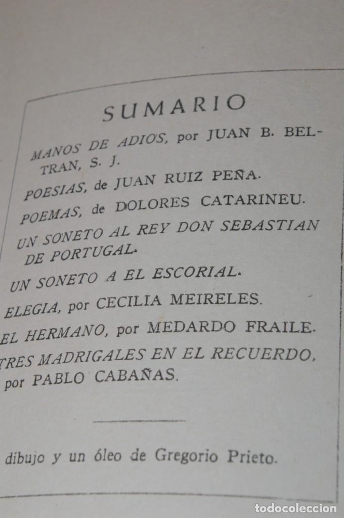Libros de segunda mano: ACANTO MADRID 1947 REVISTA LITERARIA COLECCION COMPLETA 16 NUMEROS + INDICES DIR. JOSE GARCIA NIETO - Foto 16 - 289595983