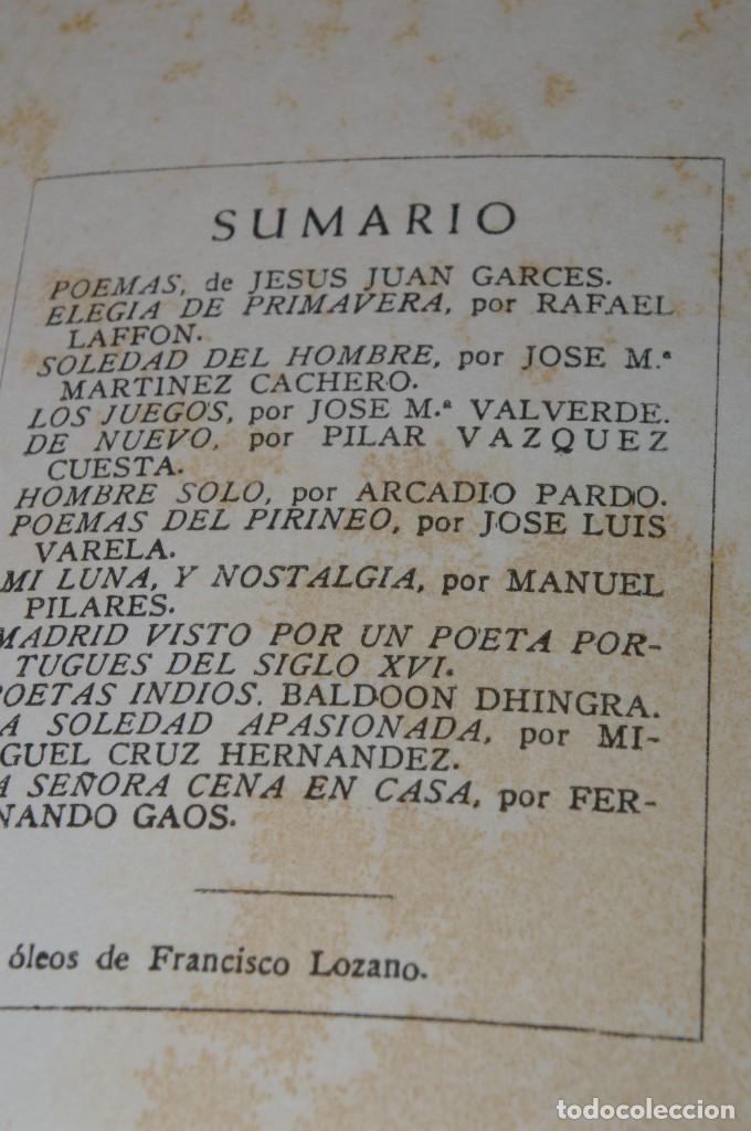 Libros de segunda mano: ACANTO MADRID 1947 REVISTA LITERARIA COLECCION COMPLETA 16 NUMEROS + INDICES DIR. JOSE GARCIA NIETO - Foto 17 - 289595983