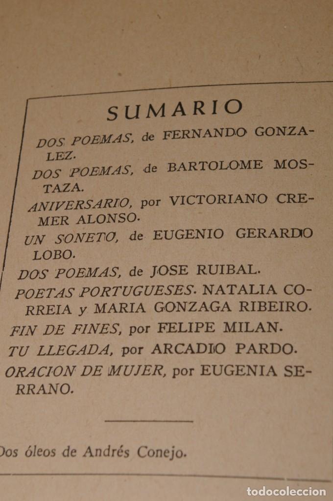 Libros de segunda mano: ACANTO MADRID 1947 REVISTA LITERARIA COLECCION COMPLETA 16 NUMEROS + INDICES DIR. JOSE GARCIA NIETO - Foto 18 - 289595983