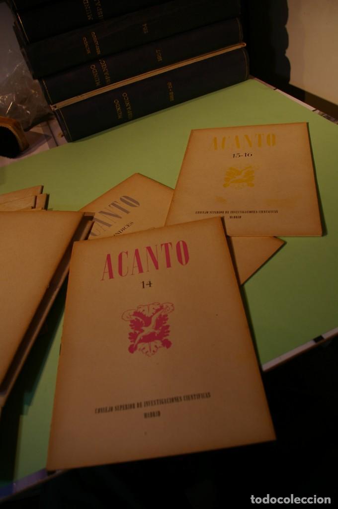 Libros de segunda mano: ACANTO MADRID 1947 REVISTA LITERARIA COLECCION COMPLETA 16 NUMEROS + INDICES DIR. JOSE GARCIA NIETO - Foto 19 - 289595983