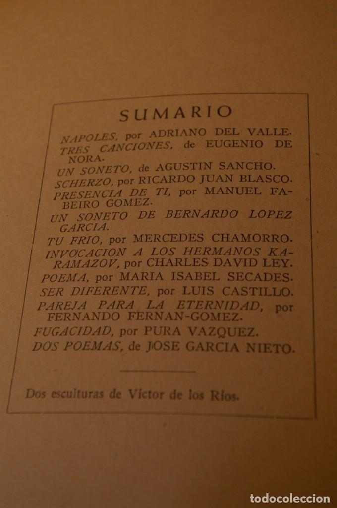 Libros de segunda mano: ACANTO MADRID 1947 REVISTA LITERARIA COLECCION COMPLETA 16 NUMEROS + INDICES DIR. JOSE GARCIA NIETO - Foto 20 - 289595983