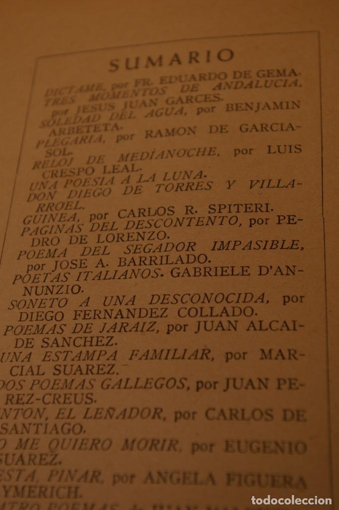 Libros de segunda mano: ACANTO MADRID 1947 REVISTA LITERARIA COLECCION COMPLETA 16 NUMEROS + INDICES DIR. JOSE GARCIA NIETO - Foto 21 - 289595983
