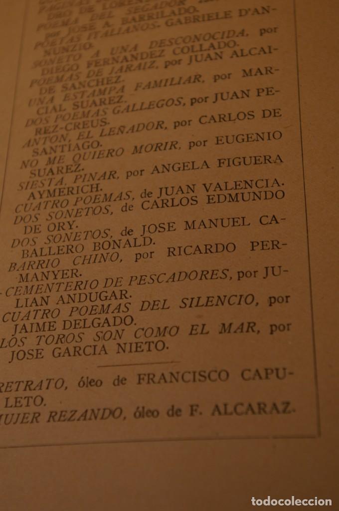 Libros de segunda mano: ACANTO MADRID 1947 REVISTA LITERARIA COLECCION COMPLETA 16 NUMEROS + INDICES DIR. JOSE GARCIA NIETO - Foto 22 - 289595983