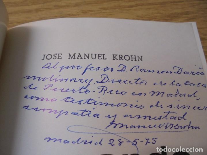 Libros de segunda mano: BUSCANDO EL INFINITO. JOSE MANUEL KROHN. DEDICADO POR AUTOR. POESIAS.1973. - Foto 4 - 289606528