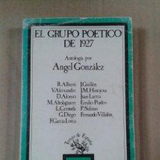 Libros de segunda mano: EL GRUPO POETICO DE 1927 - ANTOLOGIA POR ANGEL GONZALEZ - TAURUS. Lote 289624588