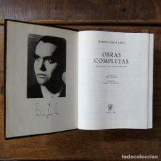 Libros de segunda mano: FEDERICO GARCÍA LORCA - OBRAS COMPLETAS - AGUILAR, 1966 -. Lote 289865748