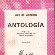 Libros de segunda mano: ANTOLOGIA. Nº75. DE GONGORA, LUIS. A-AUSVI-267.. Lote 289896178