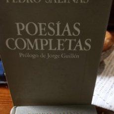 Libros de segunda mano: POESÍAS COMPLETAS PEDRO SALINAS. Lote 293864453