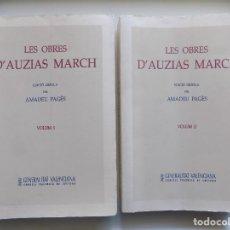Libros de segunda mano: LIBRERIA GHOTICA. LES OBRES D ´AUZIAS MARCH. EDICIÓ CRITICA PER AMADEU PAGÈS. 2 TOMOS FOLIO.1995. Lote 295977068