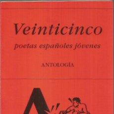 Libros de segunda mano: VEINTICINCO POETAS ESPAÑOLES JOVENES. ANTOLOGIA. HIPERION. Lote 297279893